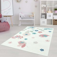 Carpet Inspiration in Cream / Pink / Blue Carpet CityCarpet City – Area Rugs in bedroom Room Carpet, Rugs On Carpet, White Area Rug, Blue Area Rugs, Nursery Area Rug, Nursery Décor, Carpet Trends, Blue Carpet, Trendy Colors