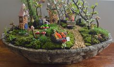 How to make your own Fairy Village Garden PDF by PinkyDinkyDesigns