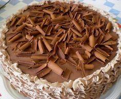 Torta Chifon de Chocolate Light Diet, Buttercream Cake, Holidays And Events, Apple Pie, Almond, Cheesecake, Stuffed Mushrooms, Menu, Vegetables