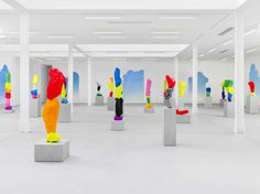 ugo rondinone recreates clouds, mountains and waterfalls at sadie coles HQ