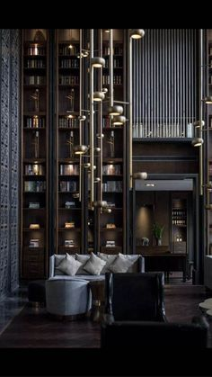 Lobby Lounge of Puli Hotel in China on Behance Lobby Interior, Luxury Interior, Interior Architecture, Hotel Lobby Design, Hotel Lounge, Lobby Lounge, Dark Interiors, Hotel Interiors, Art Deco