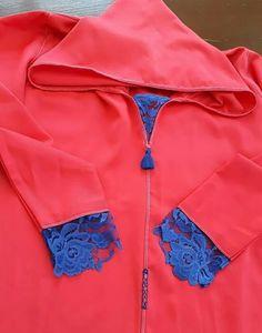 Morrocan Dress, Moroccan Caftan, Moroccan Style, Modele Hijab, Abaya Fashion, Traditional Outfits, Adidas Jacket, Rain Jacket, Windbreaker