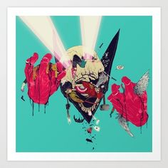 Hero Eater Art Print by boneface - @society6