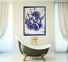 Wall Vinyl Decal Sticker Squid with a Ship Art Design Nursery Room Nice Picture Decor Hall Wall Ki339 Thumbs up decals http://www.amazon.com/dp/B00L5I3PTE/ref=cm_sw_r_pi_dp_z291tb01QGE6GSWY