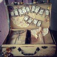 Wedding Guest Book Alternative Guest Book Box by ShabbyScrap, $125.00