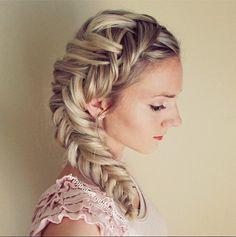 big combo fishtail braid hairstyle bmodish