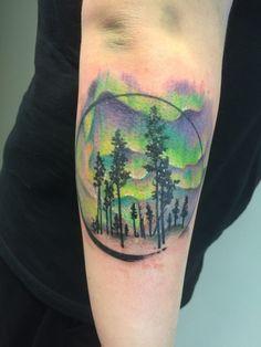 26 Enchanting Aurora Borealis Tattoos