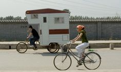 Camper Bicycle by Kevin Cyr.  This looks sooooo fun!!!!!!