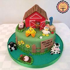 Farm Birthday Cakes, Farm Animal Birthday, Farm Party Decorations, Farm Animal Cakes, Buttercream Birthday Cake, Woodland Cake, Farm Cake, Baby Shower Cakes For Boys, Horse Cake