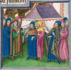 Furtmeyr-Bibel (Deutsche Bibel, Altes Testament, Bd. 1: Genesis - Rut) um 1468 - 1470 Sign. Cod.I.3.2.III (Oettingen-Wallersteinsche Bibliothek) Folio: 360v