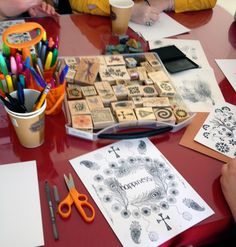Cynthia Emerlye, Vermont artist and kirigami papercutter: Making Personal Mandalas in Art Therapy Group