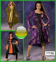 Simplicity 4959 Sexy Gothic Sorceress Witch Dress Patterns