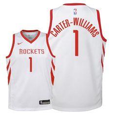 a37fe83eee227 Camisetas NBA Niño Houston Rockets NO.1 Michael Carter Williams Blanco  Association 2018 Baratas