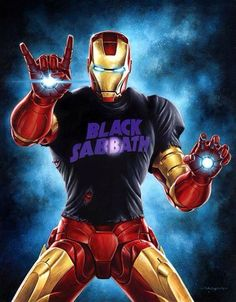 Iron Man by Jason Edmiston Loki, Thor, Jason Edmiston, Iron Man Memes, Comics Toons, Comic Book Characters, Fictional Characters, Black Sabbath, Cool Artwork