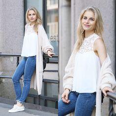 Caro Daur - Superga Shoes, Levi's® Jeans, Zara Top - Oversized Cardigan