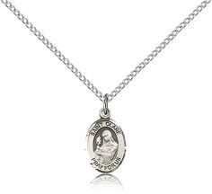 Sterling Silver St. Clare of Assisi Patron Saint Medal Pendant - Small, St. Clare of Assisi, Patron Saints - C, Patron Saints, Jewelry by Bliss, Jewelry & Medals, Categories at HolyFamilyOnline.com