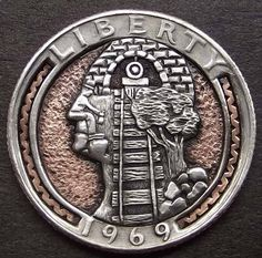 Hobo nickel pictorial silhouette by Shane Hunter.