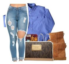 2/7/16 by xtaymaxlovesxmisfitx ❤ liked on Polyvore featuring Polo Ralph Lauren, UGG Australia, River Island and Michael Kors