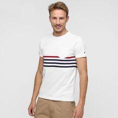 ccc25cc6fc103 Compre Camiseta Tommy Hilfiger Bolso Listras - e muito mais em roupas