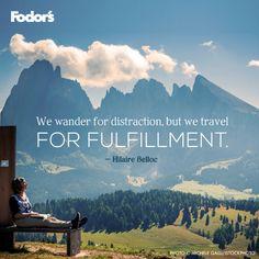 Travel for fulfillment