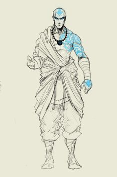 adult Aang-revision by Sketchydeez
