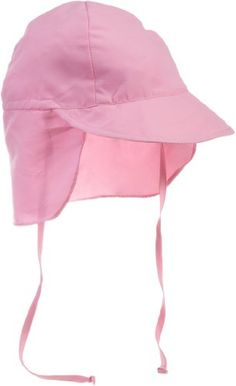 A light pink sun hat with an extra protective flap. Such a great baby girl 4da06b91b8f4
