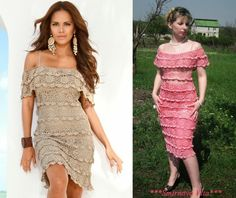 TRICO y CROCHET-madona-mía: Vestidos para mujeres a Crochet Ruso con Gráficos,