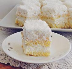 prajitura cu ananas7 Food Cakes, Vanilla Cake, Coco, Cake Recipes, Caramel, Recipies, Food And Drink, Sweets, Cookies