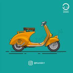 KombiT1: Piaggio Vespa Piaggio Scooter, Vespa Lambretta, Vespa Scooters, Vespa Images, Vespa Illustration, Vespa 150, Simple Canvas Paintings, Bike Poster, Vespa Girl