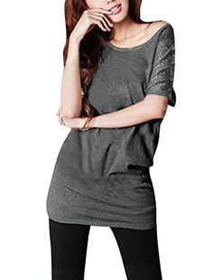 Allegra K Ladies Batwing Sleeve Tops Rhinestone Tunic Scoop Neck T Shirt | Amazon Promo Code