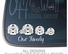 Skeleton family stick family vinyl car wall by joannakrzepkowska