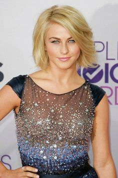 Julianne Hough - I got my hair cut similarly... only my hair is naturally wavy and therefore looks different.
