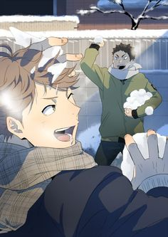Oikawa Tooru x Iwaizumi Hajime / Haikyuu! Haikyuu Iwaizumi, Bokuto X Akaashi, Iwaoi, Kuroken, Haikyuu Manga, Haikyuu Fanart, Kagehina, Bokuaka, Haikyuu Funny