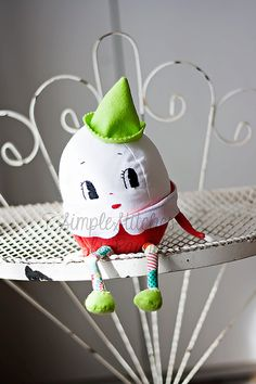 Custom Made Small Humpty Dumpty, stuffed egg, stuffed toy, softie, toy, fairy tale character