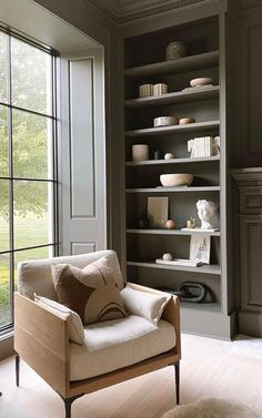 Playroom Design, Accent Chairs For Living Room, Family Room, Bookcase, Relax, Corner, Shelves, Modern, House