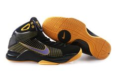 Air Foamposite Nike Hyperdunk Kobe Lakers Away Black Varsity Purple [Nike Hyperdunk Kobe - Outstanding Nike Hyperdunk Kobe Lakers Away Black Varsity Purple shoes are characterized with charming style and colors. The shiny upper features Nike Flyfit ten Nike Kd Shoes, Nike Shoes Online, Discount Nike Shoes, Sports Shoes, Jordan Shoes, Purple Nikes, Purple Yellow, Black N Yellow, Olympic Basketball