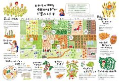 Draw your garden Book Design Layout, Book Cover Design, Cute Illustration, Graphic Design Illustration, Editorial Design, Editorial Layout, Food Graphic Design, Communication Art, Japan Design