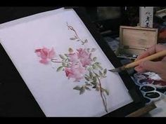 Watercolor Painting Tutorial: Roses and Butterfly. Sorry about the mono channel audio problem and here is a copy with new sound track .d not let me replace the original audio since it is one of my top hit video. Step By Step Watercolor, Watercolor Video, Art Watercolor, Watercolour Tutorials, Watercolor Flowers, Paint Flowers, Watercolor Techniques, Painting Techniques, Painting Videos
