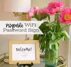 Our favorite tips on prepping for summer guests and free printable wifi password sign--frame it and put it in the living room or guest room! #sponsored | 11 Magnolia Lane