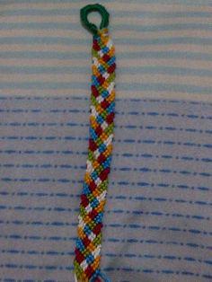 Spring-inspired Friendship Bracelet a.k.a. Stained Glass Bracelet