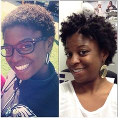 6months post BIG CHOP! I was wearing a TWA forever! So excited to experiment with different styles now that I have some length. #TWA #NHDaily #NaturalHair #Kinky #Curly #Nappy #ImBlackandImProud