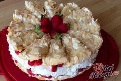 Jahodový sněhový dort