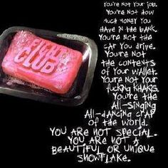 First rule of Fight Club is: you do not talk about Fight Club...