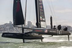 Sail-World.com : America's Cup: Oracle Team USA show off hull lifting foil developments
