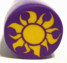Creator's Joy: Tangled Sun Motif Polymer Clay Cane by Polymer Clay Workshop's Meg Newberg