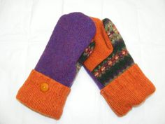 Purple, Green and Orange Work so Well Together! - Ladies Size Medium -  Lined With Soft Blizzard Fleece. by JustThatGood on Etsy