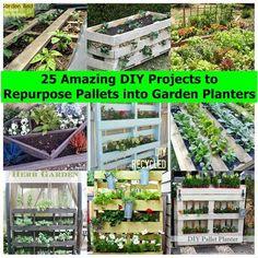 25 Amazing DIY Projects to Repurpose Pallets into Garden Planters | iCreativeIdeas.com Follow Us on Facebook --> https://www.facebook.com/icreativeideas