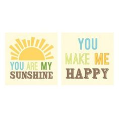 2-pc. You Are My Sunshine Canvas Wall Art Set