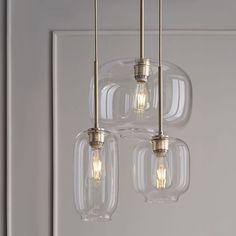 Shop Sculptural glass chandelier from west elm. Find a wide selection of furniture and decor options that will suit your tastes, including a variety of Sculptural glass chandelier. Kitchen Lighting Fixtures, Kitchen Pendant Lighting, Kitchen Pendants, Bar Lighting, Strip Lighting, Home Lighting, Modern Lighting, Lighting Ideas, Glass Light Fixtures