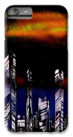 Capital Of The Other Land IPhone 6s Plus Case Printed with Fine Art spray painting image Capital Of The Other Land by Nandor Molnar (When you visit the Shop, change the orientation, background color and image size as you wish)